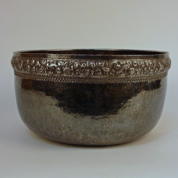 Buddhist Temple Silver Ceremonial Bowl