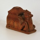 Carved Teakwood Camel Shaped Storage Box