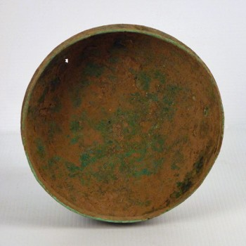 Excavated Bronze Cooking Vessel
