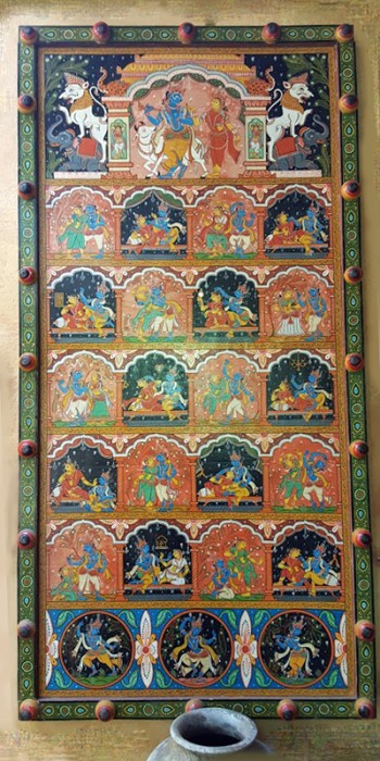 Hindu God Krishna Panel